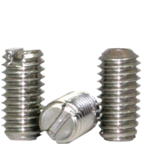 "1/4""-20x3/4"" SLOTTED SET SCREWS CUP POINT COARSE STAIN A2 (18-8), Qty 100"