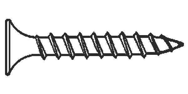 "#6x2"" Square Drive Bugle Head Deck Screws Zinc Yellow, Hardened , Qty 100"