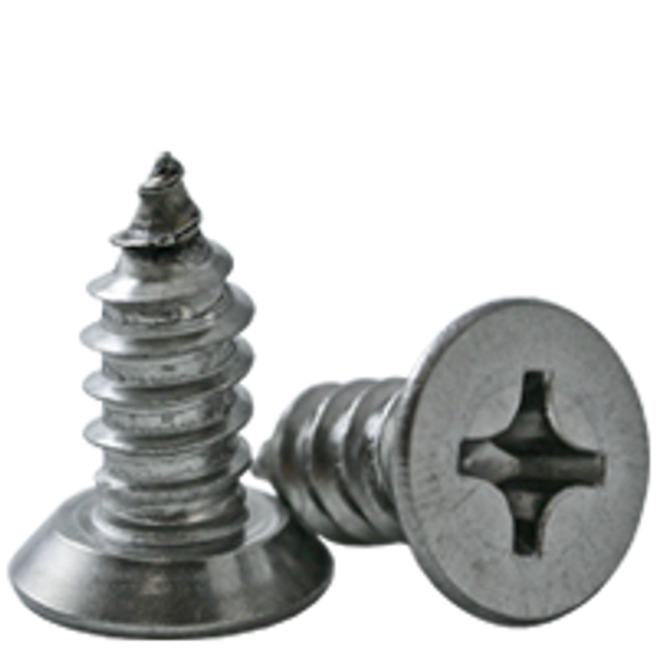 """#10-16x1/2"""",(FT)OVAL HEAD PHIL, Undercut SELF-TAPPING SCREW, TYPE AB, STAINLESS STEEL 18-8, Qty 500"""