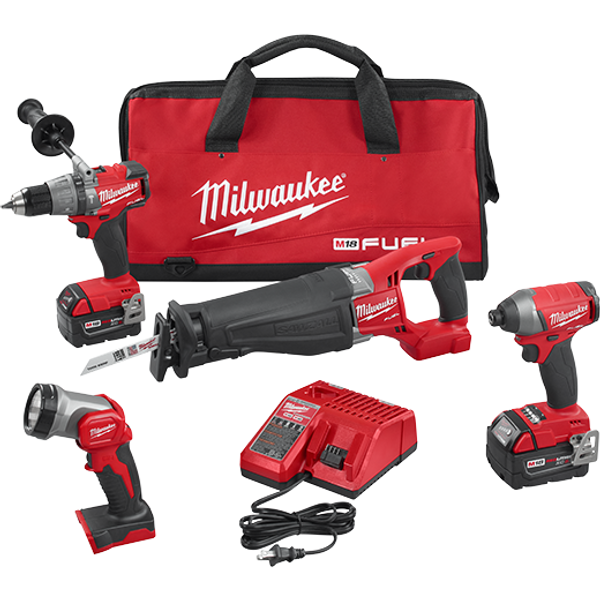 Milwaukee I M18 FUEL™ 4-TOOL COMBO KIT