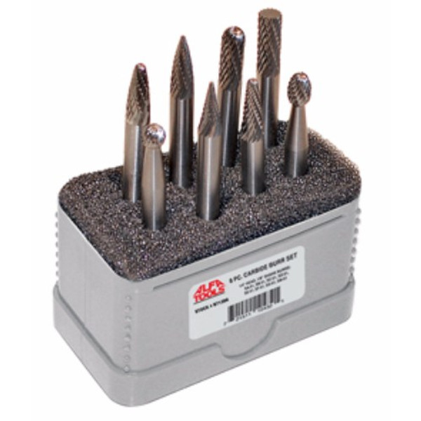 "Alfa Tools I 10 PC BURR SET 1/8"" HEAD 1/8"" SHANK"