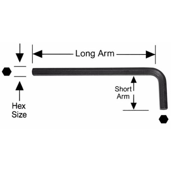 Alfa Tools I 1/4 LONG ARM HEX-L KEY