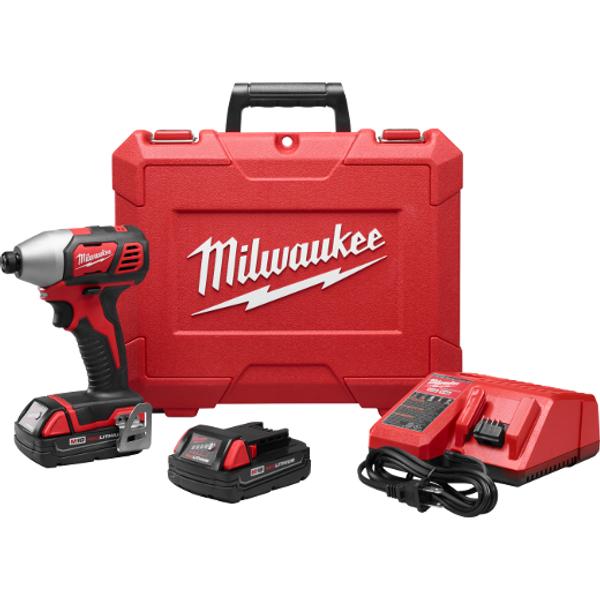 """Milwaukee I M18™ ¼"""" HEX IMPACT DRIVER KIT"""