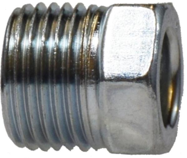 Zinc Chromate Steel Nut 7/16 STEEL INVERTED FLARE NUT - 12000