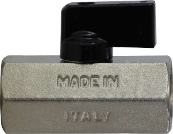 Female x Female Chrome Plated Mini Ball Valve 3/8 F X F CHROME MINI BALL VALVE - 46923I