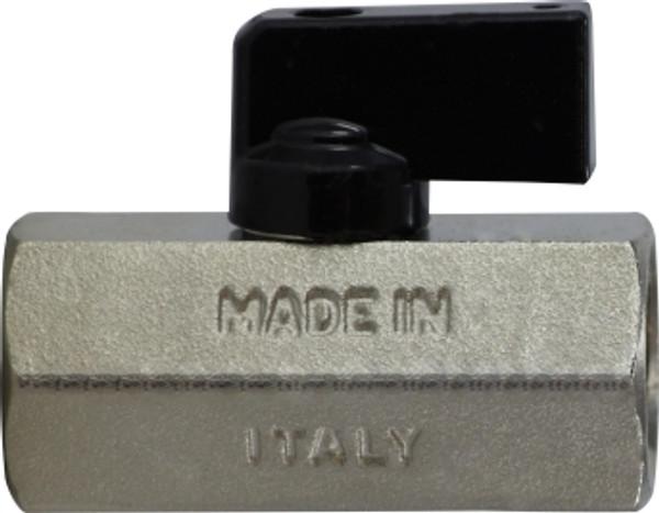 Female x Female Chrome Plated Mini Ball Valve 1/2 F X F CHROME MINI BALL VALVE - 46924I