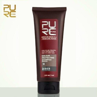 PURE SHAMPOO and CONDITIONER ARGAN OIL COLOUR PROTECTING SHAMPOO FOR COLOURED HAIR 3.38 fl oz 100ml