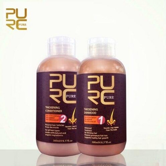 KERATIN TREATMENT HAIR THICKENING SHAMPOO and CONDITIONER TREATMENT FOR THINNING HAIR 2 x 8.57 fl oz 2 x 300ml