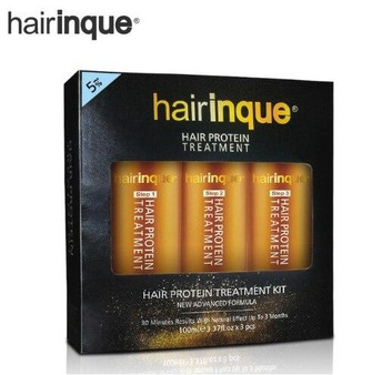 HAIRINQUE HAIRINQUE COMPLETE PROFESSIONAL SET FOR KERATIN and VITAMINS TREATMENT - PURIFYING SHAMPOO KERATIN 5percent ARGAN and MACADAMIA OIL MASK CONDITIONER 3 x 3.3 fl oz 3 x 100 ml