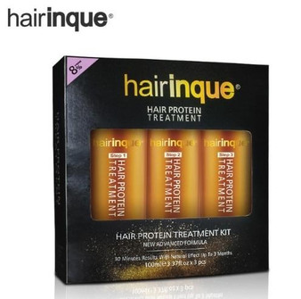 HAIRINQUE HAIRINQUE COMPLETE PROFESSIONAL SET FOR KERATIN and VITAMINS TREATMENT - PURIFYING SHAMPOO KERATIN 8percent ARGAN and MACADAMIA OIL MASK CONDITIONER 3 x 3.3 fl oz 3 x 100 ml