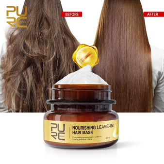 KERATIN TREATMENT LEAVE-IN NOURISHING HAIR MASK FOR DAMAGE and SMELLS OUT FOR YOUR HAIR 60ML