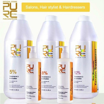KERATIN SALON and PROFESSIONAL - KERATIN KIT 3 x 33.8 fl oz 1000ml KERATIN BOTTLE PURIFYING SHAMPOO 2 x 10.14 fl oz 300 ml