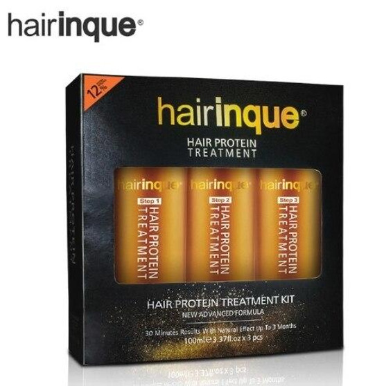 HAIRINQUE HAIRINQUE COMPLETE PROFESSIONAL SET FOR KERATIN and VITAMINS TREATMENT - PURIFYING SHAMPOO KERATIN 12percent ARGAN and MACADAMIA OIL MASK CONDITIONER 3 x 3.3 fl oz 3 x 100 ml
