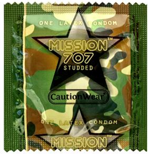 Caution Wear 707 Studded Condoms - Bulk Wholesale Condoms