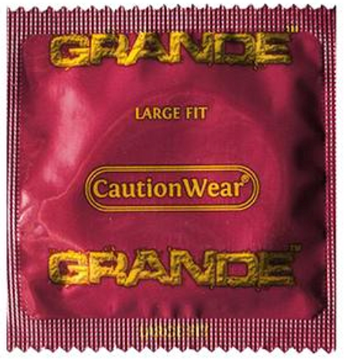 Caution Wear Bulk Condoms - Grande - large Condoms