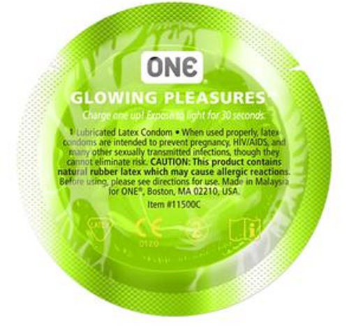 ONE Glowing Pleasure BULK Condoms (Glow in the Dark)