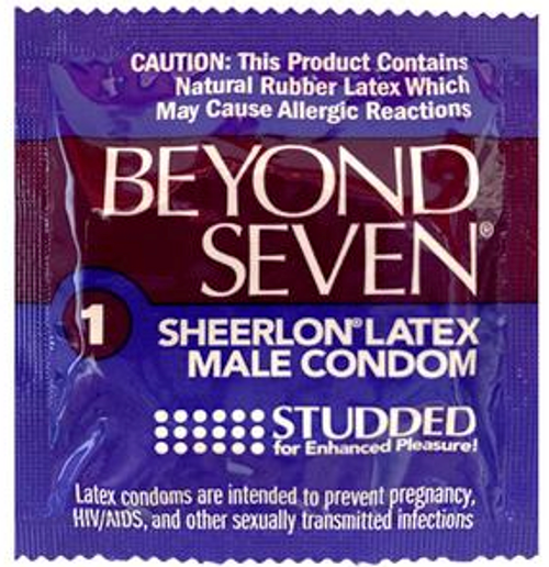 Beyond Seven Studded BULK Condoms