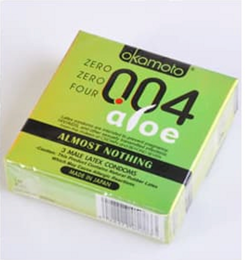 Okamoto .004 Aloe Condoms (Retail Box)