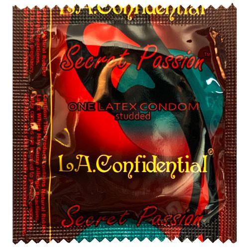 L.A. Confidential Secret Passion Studded Condoms - Wholesale Condom Distributor