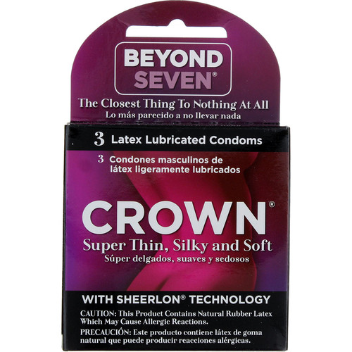 Crown Condoms 3ct Retail Box