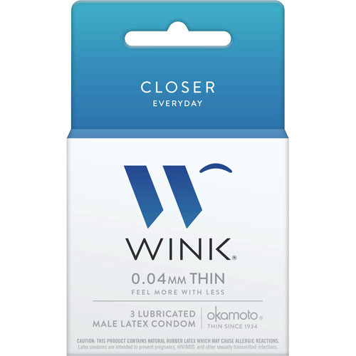Wink Closer Condoms Wholesale 3 Count Box