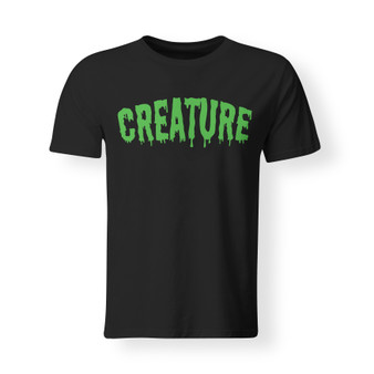 Adult, unisex, tee, t-shirt, black, green, creature, cotton, family, Halloween