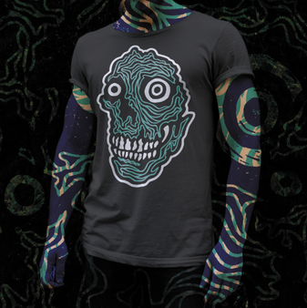 skulls, mint, minty fresh, black, tattoo, art, artist, featured artist, rx, tee, apparel, shop, local, buy
