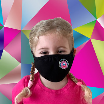 Black, 100% cotton, machine washable, 2 ply, safety, face mask, kids, funny, monster
