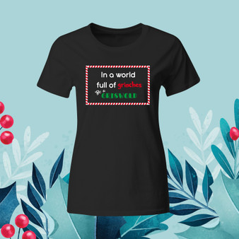 Black Ladies Tee, Christmas, Holiday, Griswold, Grinches, apparel, comfort
