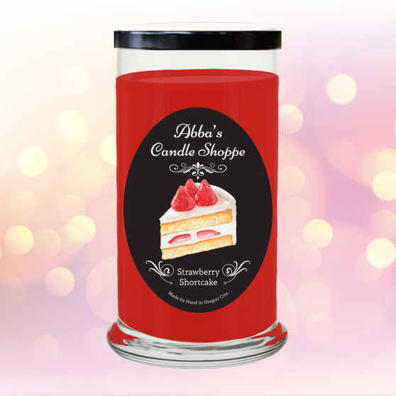 Strawberry, shortcake, sweet scented, candle, home decor, gift, jar, jar candle, fragrant, classic