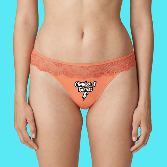 Thong, intimates, underwear, lace, ladies, apparel, taste, kisses, coral, sexy, lingerie, Harry Potter, Chamber of Secrets