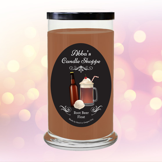 Rootbeer, vanilla, vanilla ice cream, frosty,  sweet scented, candle, home decor, gift, jar, jar candle, fragrant, classic