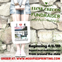 Tote, white, oregon, fundraiser, support,  waterfall, small business, community