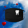 Black, 100% cotton, machine washable, 3 ply, safety, Medical, Dental, Tooth