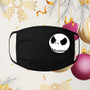 Face mask, black, ear loops, 100% cotton, machine washable, Christmas, Holiday