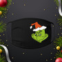 Grinch, Face mask, ear loops, black, 100% cotton, Christmas, Holiday