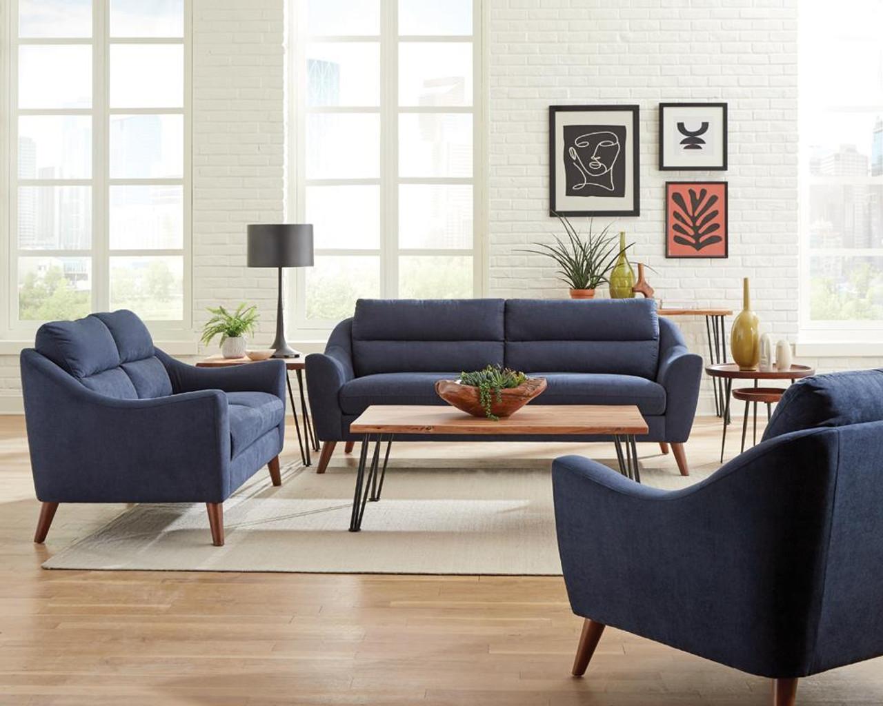 Navy Blue Sofa 3 Pc Set 509514 S3 On Sale At Stringer Furniture Serving Jackson Ms