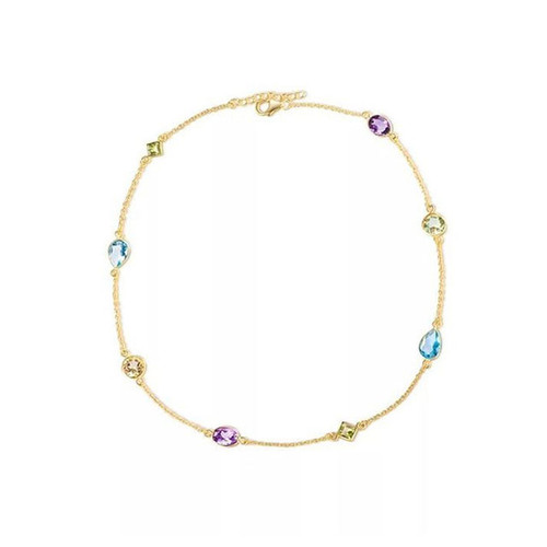 """HIGH PRISTESS"" MULTI GEMSTONE CHOKER NECKLACE"