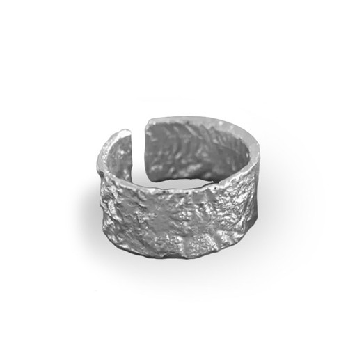 """THICK """"HARD ROADS"""" TEXTURED STACKABLE RING"""