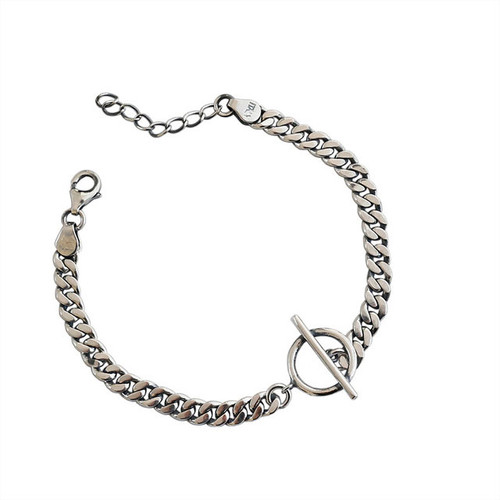 """Caim"" Link Chain Bracelet Silver"