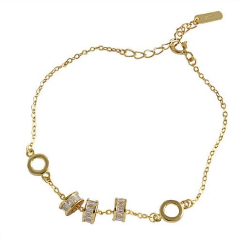 """Angel"" Crystal Bead Charm Bracelet"