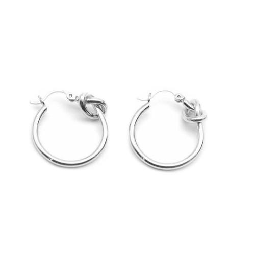 """""""Promise"""" Knot Hoop Earrings"""