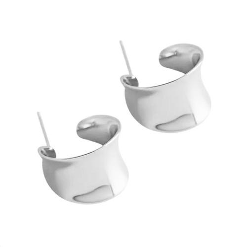 Concave Micro Hoop Earring