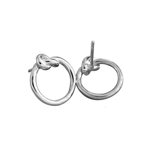 """Promise"" Circle Knot Stud Earrings"