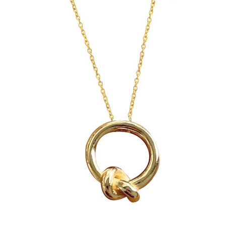 """Promise"" Knot Pendant Necklace"