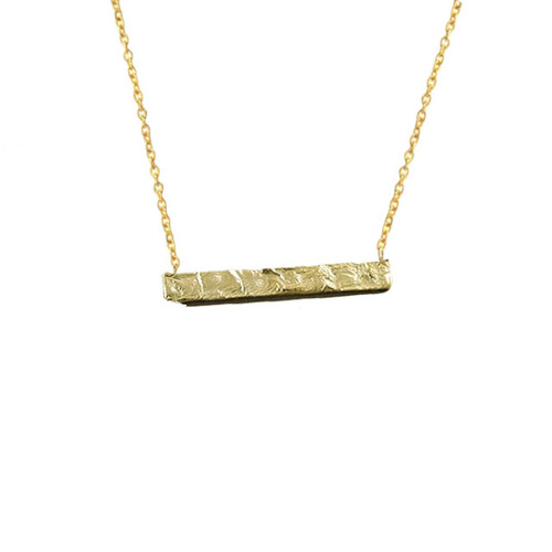 """Hard Roads"" Bar Pendant Necklace"