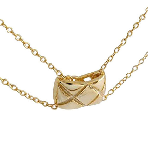 """""""Orenda"""" Quilted Pendant Choker Necklace"""
