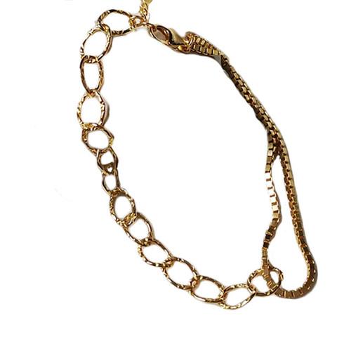 """Lucelence"" Double Chain Link Gold Bracelet"