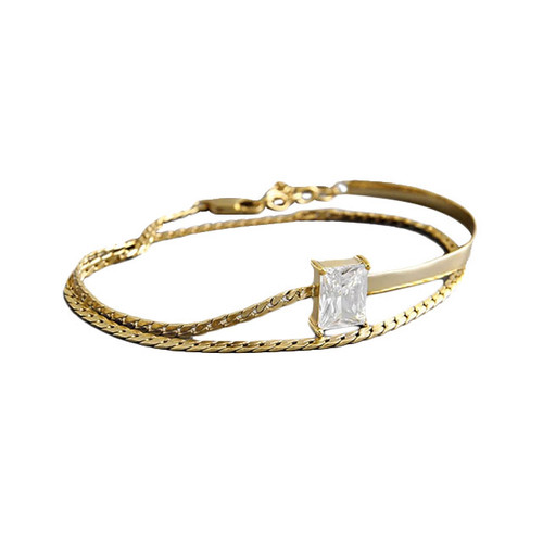 """Selcouth"" Pendant Wrap Bracelet Gold"