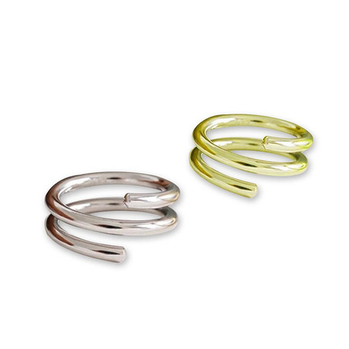 """Spiral """"Connection"""" Ring"""
